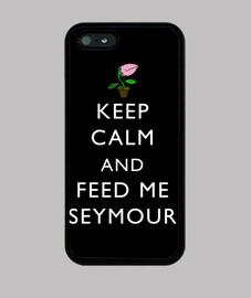 Keep Calm and Feed Me Seymour (Funda iPhone 5)