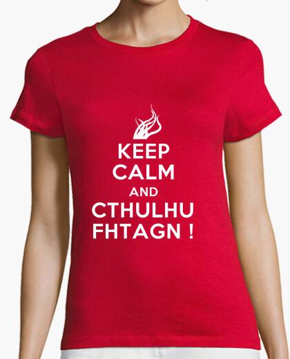 Tee-shirt keep calm and fhtagn cthulhu!