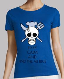 Keep Calm and Find All Blue (Noir)