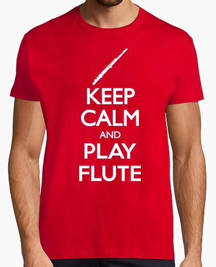 Camiseta Keep Calm and Flute