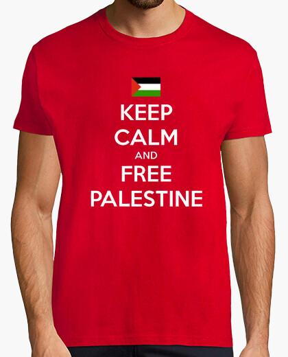 Camiseta Keep Calm and Free Palestine