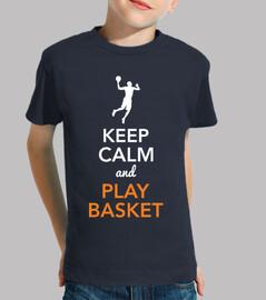 keep calm and giocare a basket (bambino)