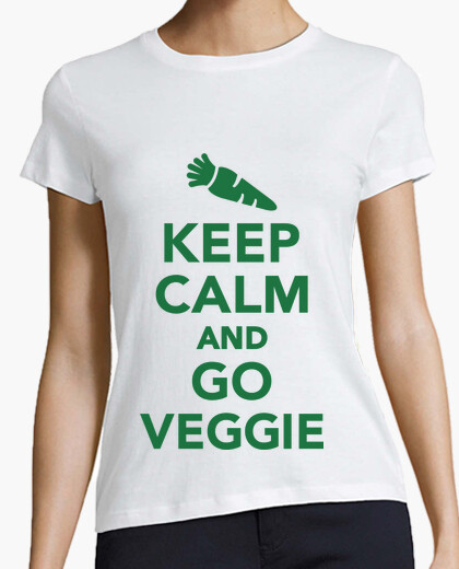 Tee-shirt Keep Calm and Go Veggie