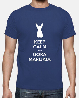 KEEP CALM and GORA MARIJAIA (azul para mutiko)