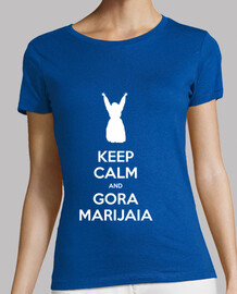 KEEP CALM and GORA MARIJAIA (azul para neska)
