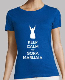 KEEP CALM and GORA MARIJAIA (azul para neska versión 2)