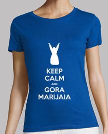 KEEP CALM and GORA MARIJAIA (azul para neska versión 2)