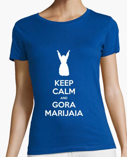 Tee-shirt keep calm and gora marijaia (bleu pour la version neska 2)