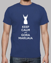 keep calm and gora marijaia (blu per mutiko)