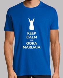 keep calm and gora marijaia (blu per mutiko)