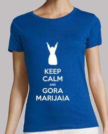 keep calm and gora marijaia (blu per neska)