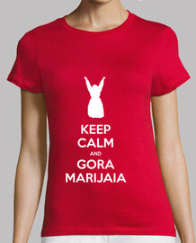 KEEP CALM and GORA MARIJAIA (rojo para neska)