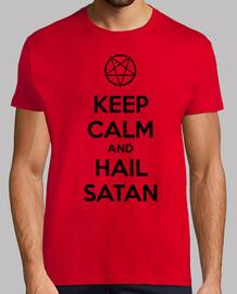 Keep calm and hail Satan V.1 (negro)