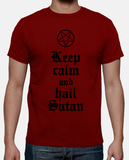 Keep calm and hail Satan V.2 (negro)