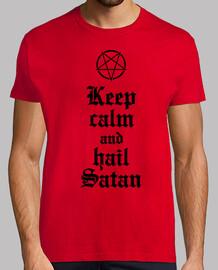 Keep calm and hail Satan V.2 (negro)