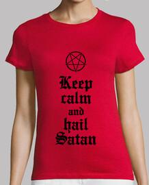 Keep Calm and Hail Satan v.2 (noir)