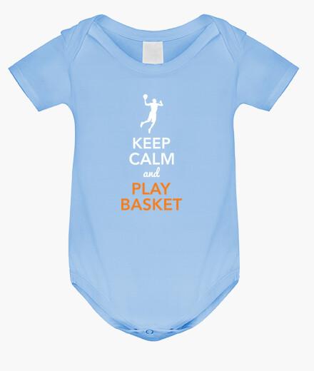 Vêtements enfant keep calm and joue au panier