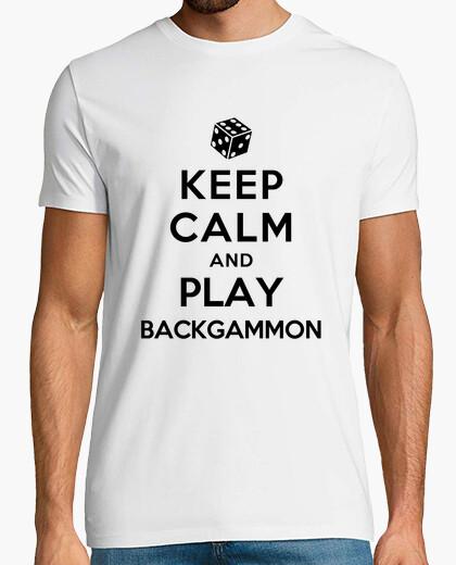 Tee-shirt keep calm and jouer au backgammon
