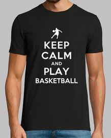 keep calm and jouer au basket