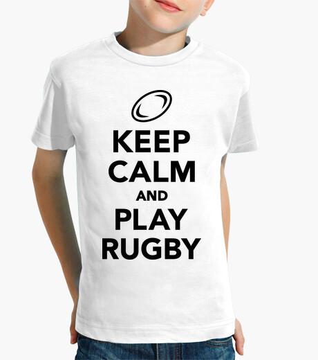 Vêtements enfant keep calm and jouer au rugby