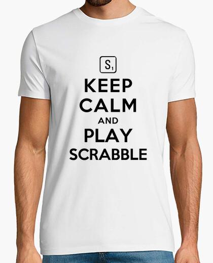 Tee-shirt keep calm and jouer au scrabble