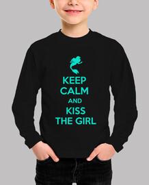 Keep calm and kiss the girl - chico turquesa
