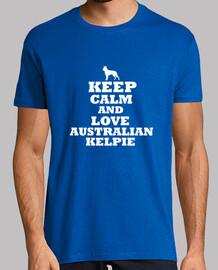 keep calm and l'amour australian kelpie