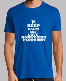 keep calm and l'amour elkhound norvegien