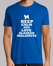 keep calm and l'amour malamute de l'alaska