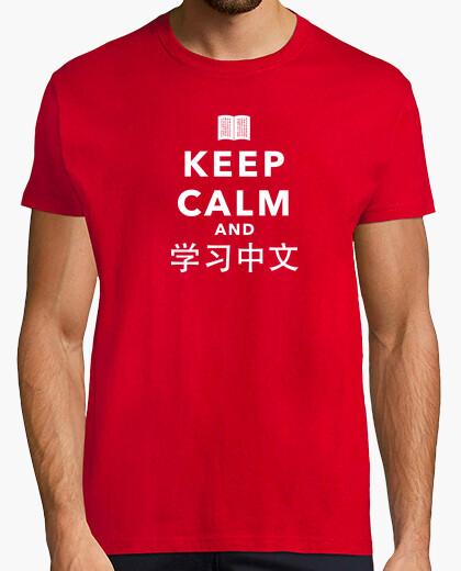Camiseta Keep Calm and Learn Chinese