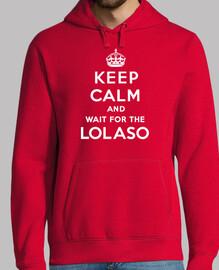 KEEP CALM AND LOLASO blanco sudadera
