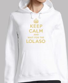 KEEP CALM AND LOLASO dorado sudadera