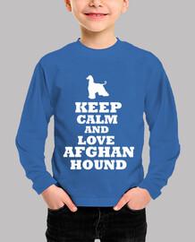 Keep calm and love afghan hound