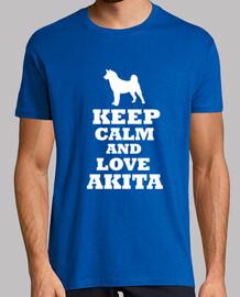 Keep calm and love akita