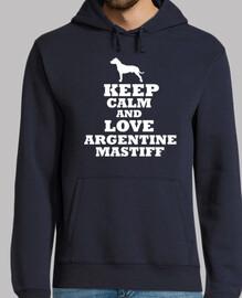 Keep calm and love argentine mastiff