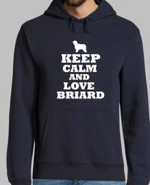 Keep calm and love briard