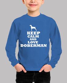Keep calm and love doberman