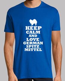 Keep calm and love german spitz mittel