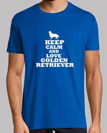Keep calm and love golden retriever