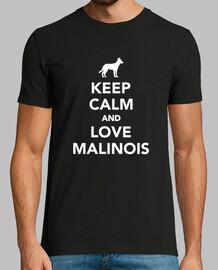 keep calm and love malinois