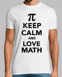 keep calm and love math pi