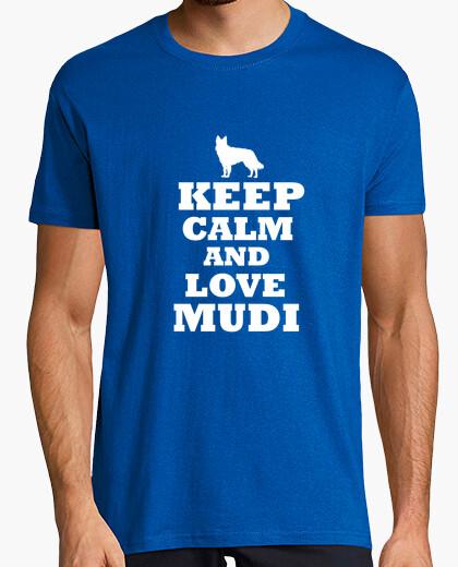 Camiseta Keep calm and love mudi