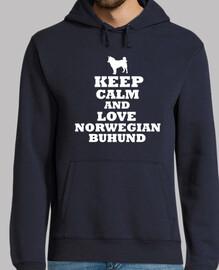Keep calm and love norwegian buhund