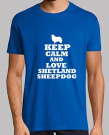 keep calm and love shetland sheepdog