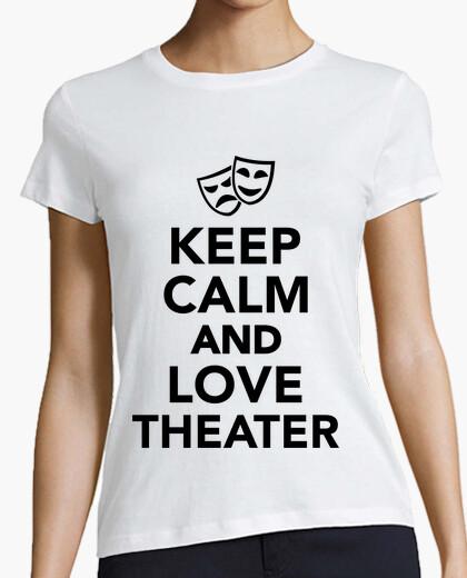 Tee-shirt Keep Calm and Love Theater