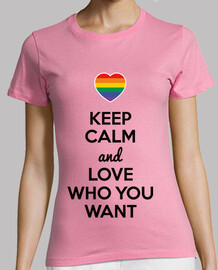 Keep Calm and Love Who You Want (Fondo Claro)