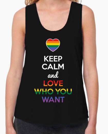 Camiseta Keep Calm and Love Who You Want (Fondo Oscuro)