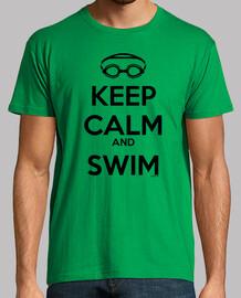keep calm and nuota all'uomo