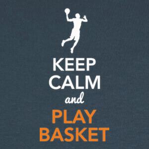 Tee-shirts Keep Calm and Play Basket