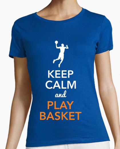 Camiseta Keep Calm and Play Basket (Mujer)
